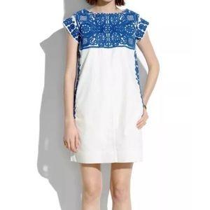 Madewell Casita shift dress embroidered